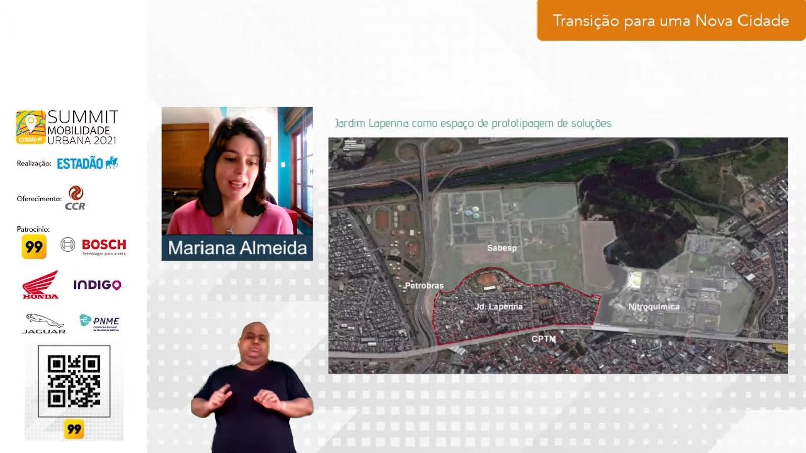 Protagonismo comunitário foi capaz de promover transformações no Jardim Lapena, em São Paulo. (Fonte: Summit Mobilidade Urbana 2021/Reprodução)