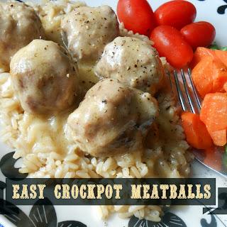 Easy Crockpot Meatballs.