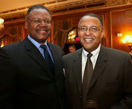Photo: Clerk-Magistrate Robert Lewis (Housing Court) with Chief Justice Roderick Ireland.