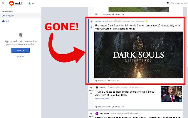 Reddit Promoted Ad Blocker