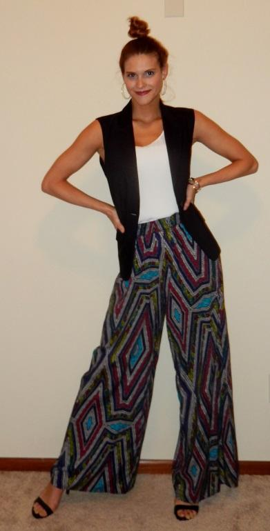Young Professionals Printed Pants Work