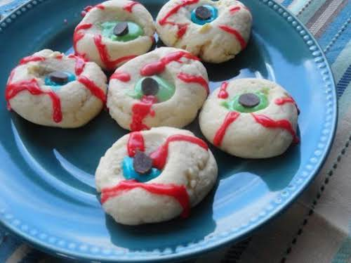 """Spooky Eyeball Cookies """"This is a great Halloween cookie! I created this..."""