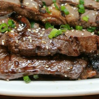 Grilled Asian Sesame Beef Strips