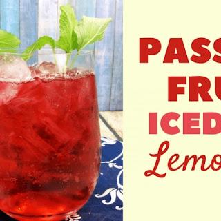 Iced Passion Fruit Tea Lemonade.