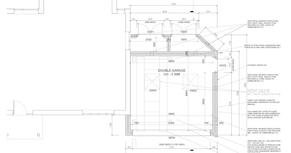 aerial view of garage architectural designs