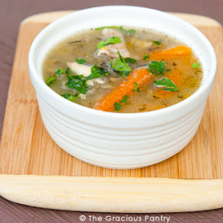 Clean Eating Leftover Rotisserie Chicken Soup.