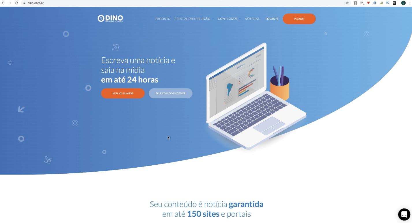Site oficial da DINO