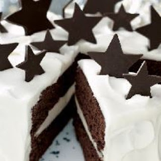 White Chocolate Truffle and Chocolate Fudge Layer Cake
