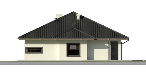 Dom przy Pastelowej - Elewacja prawa