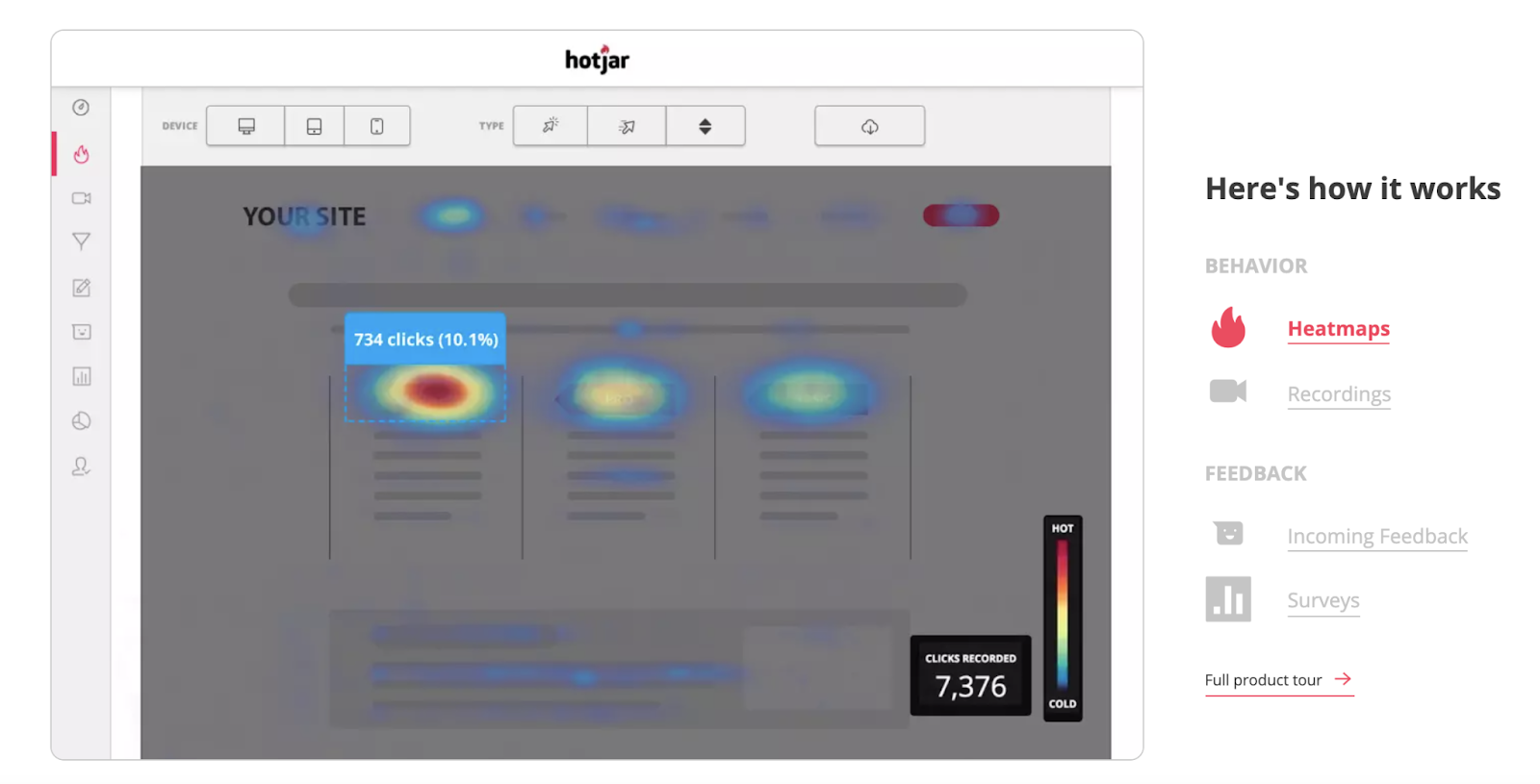 Hotjar: best tool for UX researchers