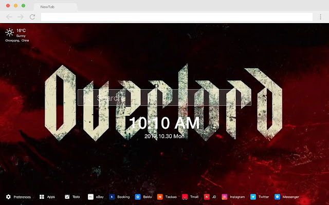 Overlord HD New Tabs Popular Games Themes