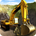Construction Excavator 3D Sim icon