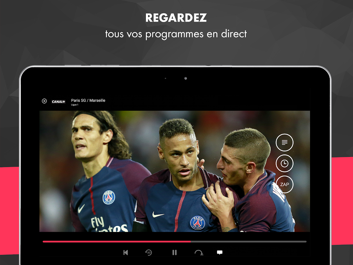 Screenshots of myCANAL, vos programmes en live ou en replay for iPhone