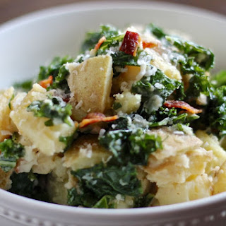 Kale Caesar Potato Salad (with bacon)