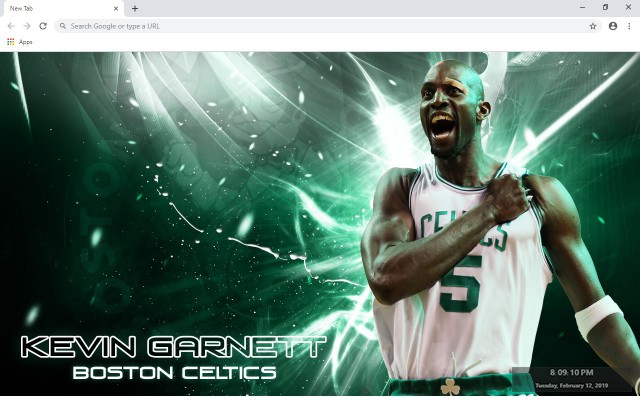 Kevin Garnett NBA New Tab