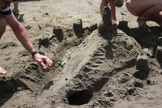 Photo: Sand castles at Waterbury Center State Park