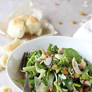 Roasted Spring Vegetable Salad with Tahini Dressing.