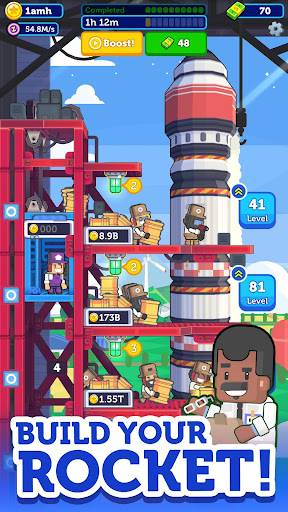 Rocket Star - Idle Factory, Space Tycoon Games 1.9.0 screenshots 1