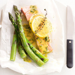 Baked Salmon With Lemon, Thyme And Asparagus