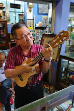 Photo: This gentleman sang a welcome song to us - how cute!