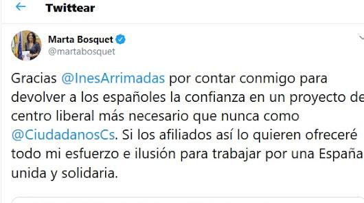Inés Arrimadas 'ficha' a Marta Bosquet para su equipo