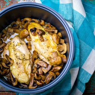 Butter Stewed Chicken And Mushrooms.