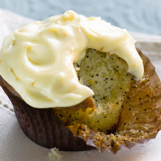 Poppy Seed Cupcakes with Orange Frosting