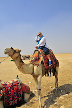 Photo: Jeanette on her camel