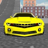 Yellow Sports Car Driving
