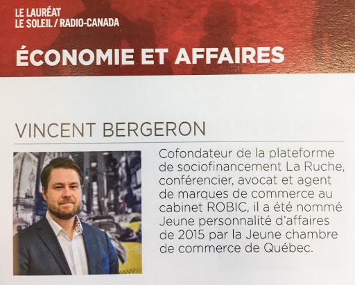 Vincent Bergeron Lauréat 2016