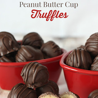 Homemade Reese's Peanut Butter Cup Truffles.