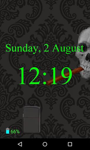 Cigar Skull Screen Lock
