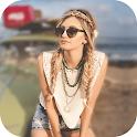Blur Image - DSLR focus effect icon