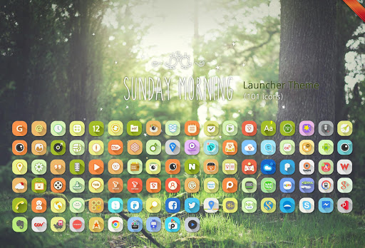 Sunday Morning Launcher Theme