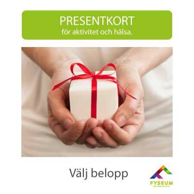 Presentkort, välj belopp