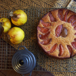 Dimpled Quince Pudding Cake.