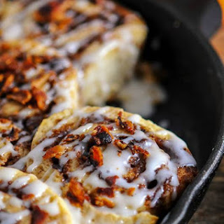 Bourbon Bacon Cinnamon Rolls.