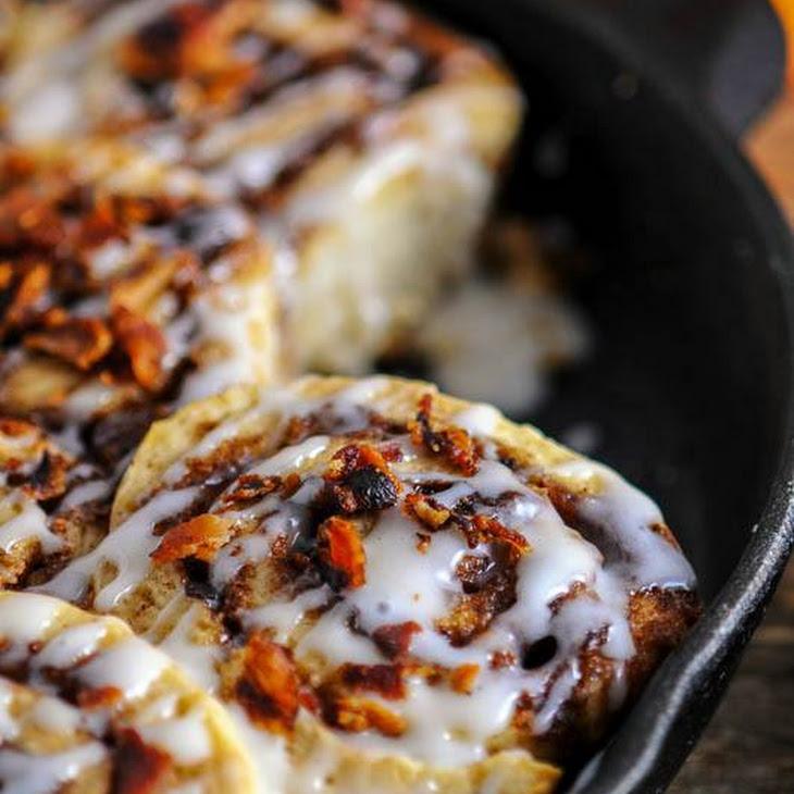 Bourbon Bacon Cinnamon Rolls Recipe