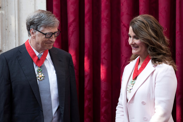 Bill Gates and Melinda Gates said on Monday that they have decided to divorce, unnerving the philanthropic world. File picture.
