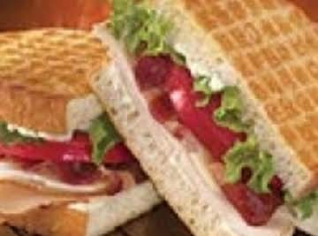 Dairy Queens turkey club Panini