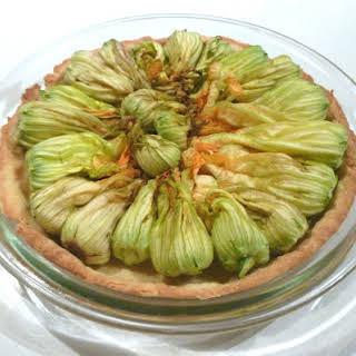 Zucchini Flower Tart.