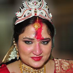 Bride - Hindu wedding ceremony by Prabir Sen - Wedding Bride ( potrait, hindu, wedding, bride, ceremony )