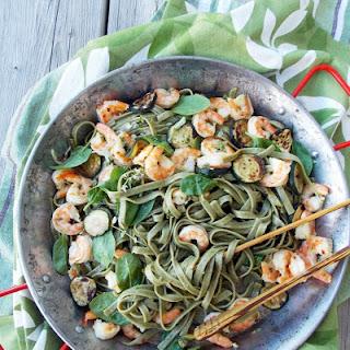 Shrimp Zucchini Spinach Pasta