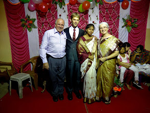Photo: Directly after the wedding we traveled most of the night back to Cuttack where we had another wedding reception the next day in the evening. This is at the reception at Cuttack.
