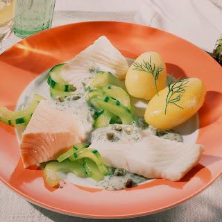 Fischfilet-Variationen in Dill-Sahne-Sauce
