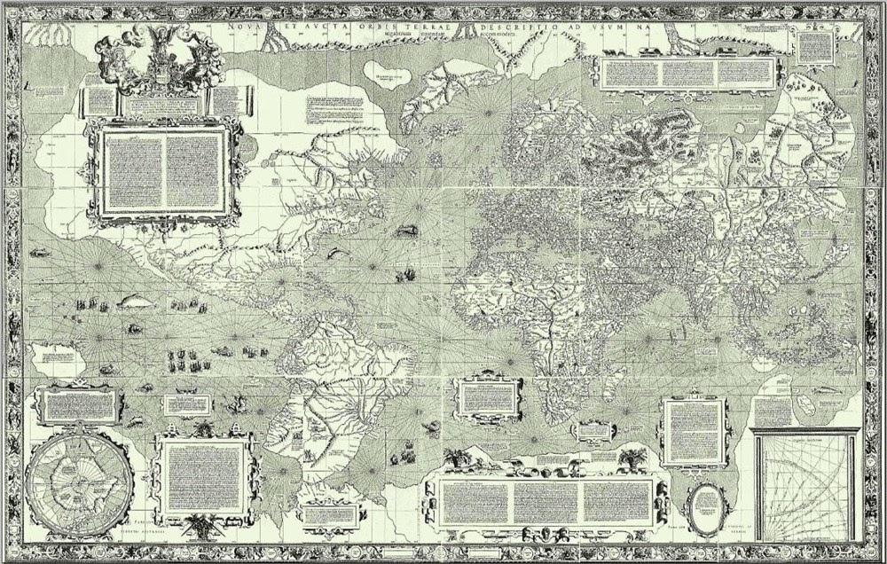 A evolução do mapa mundi