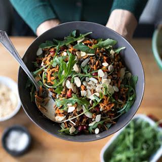 Shredded Carrot, Arugula, and Wild Rice Salad.