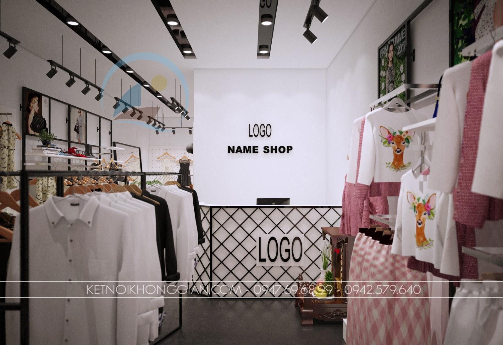 thiết kế shop thời trang giá rẻ, thu hút