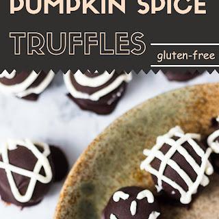 Vegan Pumpkin Spice Truffles (Gluten-Free).