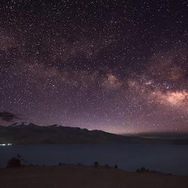 Milkyway from Tso Moriri Lake, Ladakh, June 2018 by Manabendra Dey - Landscapes Starscapes ( tso moriri, night, milkyway, stars, lake, ladakh )